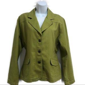 Chico's women's Green Blazer size 12